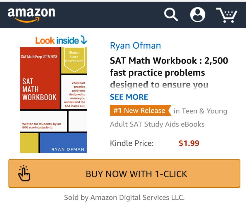 Ryan Ofman Mathematics SAT math workbook