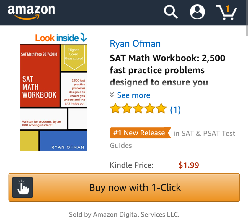 Ryan Ofman SAT Math workbook #1 SAT test guide